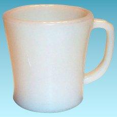 Vintage Fire King Ivory Colored D-Handle Mug