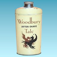 Vintage Woodbury After-Shave Talc Tin