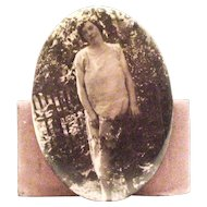 Vintage Early 1900's-1920's Portrait Pin Of Young Lady