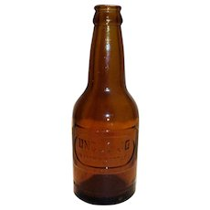 Uncle Jo Amber Glass Soda Bottle. Waco, Texas