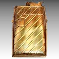 Evans Gold Tone Metal Cigarette Lighter/Case