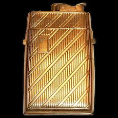 Evans Gold Tone Metal Cigarette Lighter/Case