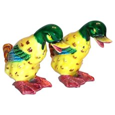 Pal Mar: Hand Painted Porcelain Duck Salt & Pepper Shakers