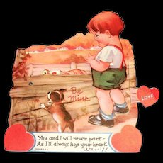 "Vintage ""You And I Will Never Part Mechanical"" Valentine"