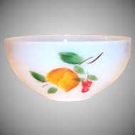 Fire King Gay Fad Hand Painted Fruit Design Wide Banded Trim Bowl