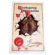 Thanksgiving Proclamation Greetings Postcard