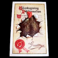 Thanksgiving Proclamation Greetings Postcard