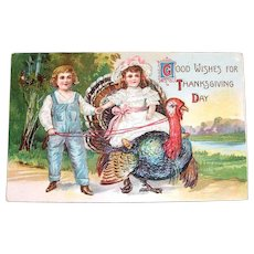 Good Wishes For Thanksgiving Day Postcard