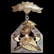 Knights Of Pythias: FCB 1874 Fraternal Badge Member Medal