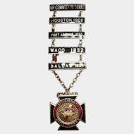Masons' York Rite Knights Templar Order Efficiency-Drill Medal