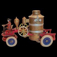 Kingsbury Toys Windup Fire Engine