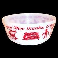 Hazel Atlas Children's: We Give Thee Thanks, O God! Cereal Bowl