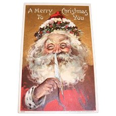 Vintage BCL: A Merry Christmas To You, Santa Claus Postcard