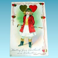 """Hunting"" For A ""Sweetheart"" Valentine Postcard"