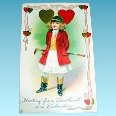 """""""Hunting"""" For A """"Sweetheart"""" Valentine Postcard"""