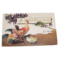 A Joyful Eastertide Postcard signed B. Bicletton