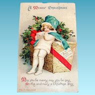 Int'l Art Publ. Co.: A Merry Christmas Postcard Signed Ellen H. Clapsaddle