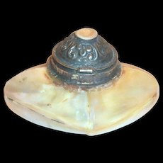 Vintage Hand Made Mother of Pearl Snuff Bottle