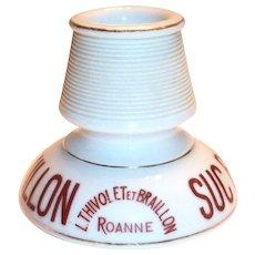 Vintage Suc Braillon Porcelain French Advertising Match Holder & Striker
