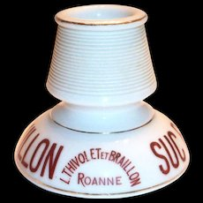 Vintage Suc Braillon Porcelain French Advertising Match Holder & Striker