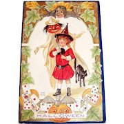 Nash: Halloween Postcard (Child Dressed As Witch)
