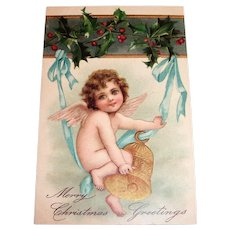 Merry Christmas Greetings (Angel On A Bell)