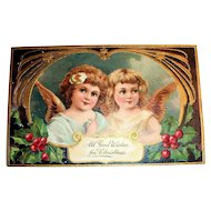PFB: All Good Wishes for Christmas Postcard - Angels
