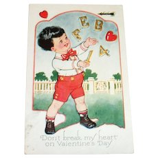 "Carrington Co.: ""Don't Break My  Heart"" Valentine Postcard"