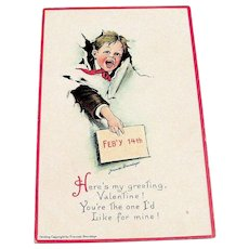 Brundage: Feb'y 14th, Here's My Greeting Postcard