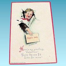 Brundage: Feb'y 14th, Here's My Greeting Postcard