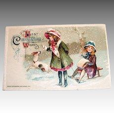 Winsch: Best Christmas Wishes Postcard-1912