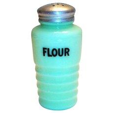 Jeanette Glass Co. Jadite Glass Flour Shaker