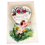 Vintage To My Valentine Postcard