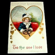 Int'l Art Publisher's: Ellen Clapsaddle: To The One I Love Postcard
