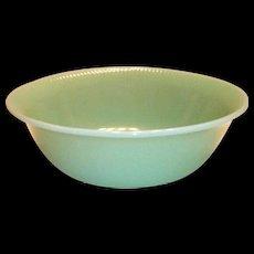 "Fire King Jane Ray 8""Rd Jadite Glass Bowl"