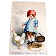 A Bright & Happy Easter Postcard Signed Ellen H. Clapsaddle