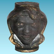Black Americana: Two-Faced Black Boy Head Cast Iron Bank