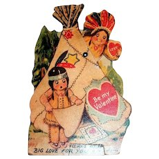 "Mechanical ""Here's Heap Big Love For You, Be My Valentine"" 1937"