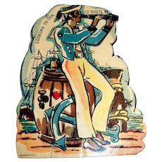 """""""Looking To Sea"""" Mechanical Sailor Valentine"""
