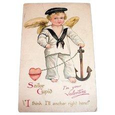 Vintage To The Best Little Playmate Fold Down Valentine - 1936