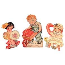 3 Darling Vintage 1930's Valentines