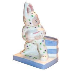 California Pottery: Block: Boy In Rabbit Costume Planter