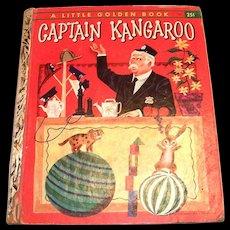 Little Golden Children's Book: Captain Kangaroo, 1956, A Edition