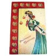 Vintage E. C. Banks: Halloween Greetings Postcard - 1912