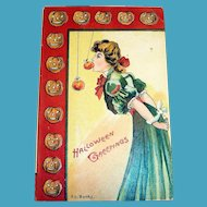 Vintage E. C. Banks: Halloween Greetings Postcard - 1912