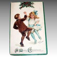 A Merry Christmas Postcard Signed Frances Brundage