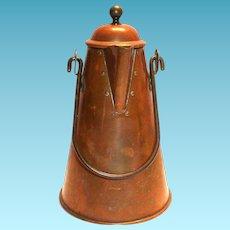Vintage Copper & Brass Coffee Pot - Portugal