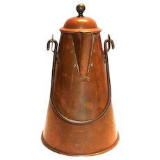 Vintage Copper & Brass Coffee Pot - Portugal