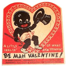 E. Rosen Co.: Black Americana: Be Mah Valentine! Cardboard Sucker Holder