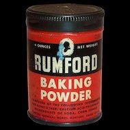 Advertising: Rumford 4 Oz Baking Powder Tin